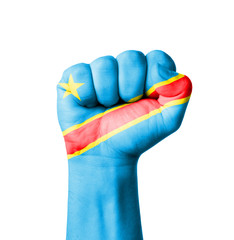 Fist of Congo flag painted