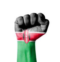 Fist of Kenya flag painted