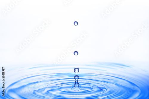 Leinwandbild Motiv 波紋と水滴
