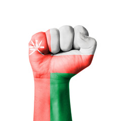 Fist of Oman flag painted