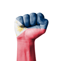 Fist of Philippines flag painted