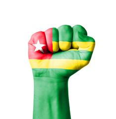 Fist of Togo flag painted