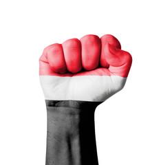 Fist of Yemen flag painted