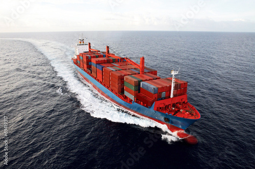 canvas print picture transport ship