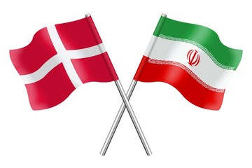 Flags: Iran and Denmark