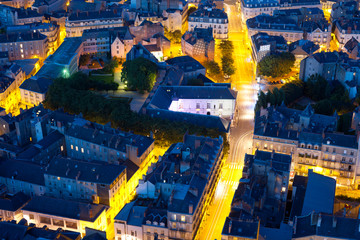 Nantes at a summer night