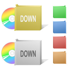 Down. Box with compact disc.