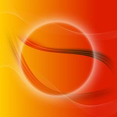 Orange fantasy background