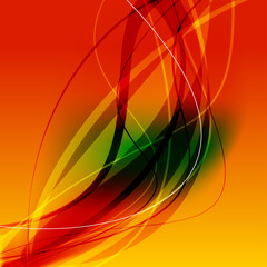 Orange background with curve