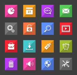 Set of flat design icons. Vector illustration