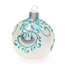 white christmas ball on white background