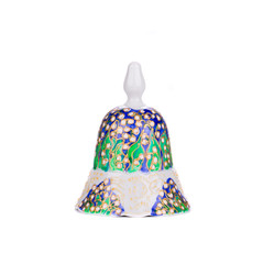 Painted handmade ceramic bell.