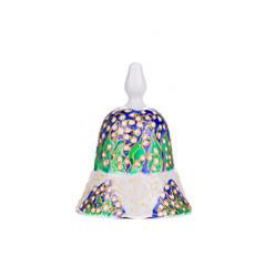 Painted handmade ceramic bell.