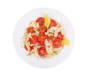 Fitness salad with celery and tomatoes.