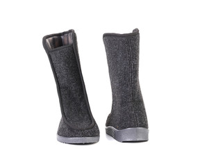 Black felt boots.