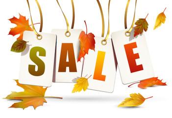 Sale Etiketten - Herbst Saison