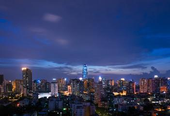 skyline in night