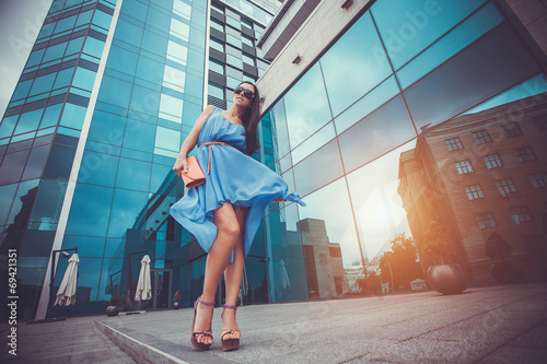 sexy woman in the city