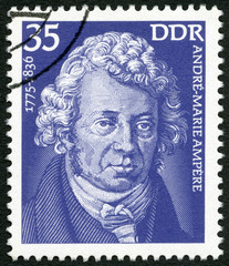 GERMANY - 1975: shows Andre-Marie Ampere (1775-1836), scientist