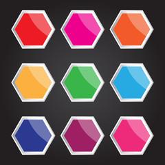 Vector hexagon icon for creative work