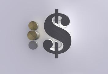 dollar 3d icon