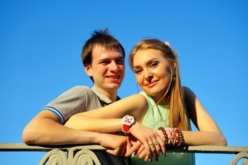 Portrait of a young in love couple