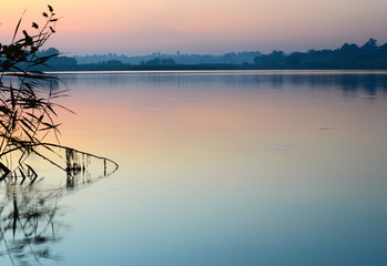 View of calm water surface Ukraine