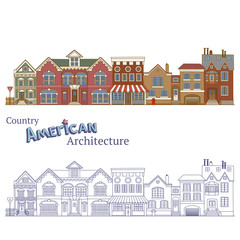 Suburban in United States and Country American Architecture