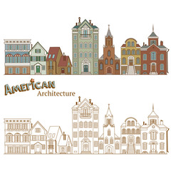Cityscape in United States and Typical American Architecture