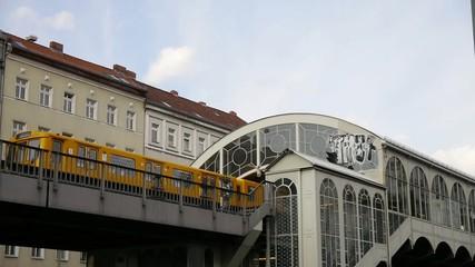 Metro and church in Berlin