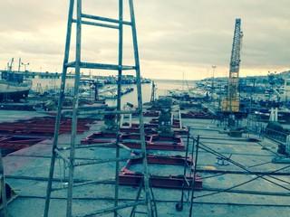 shipyard port in Spain