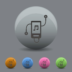 Music Player icon in  design with shadow