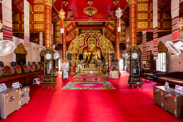 Interior Wat Klang Wiang temple, ChiangRai, Thailand