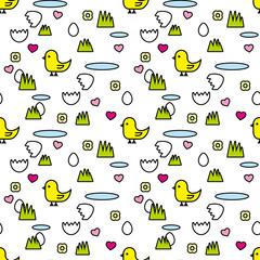seamless pattern chick
