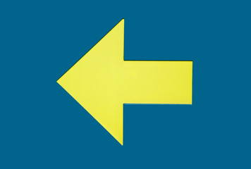 direction arrow showing to the left side