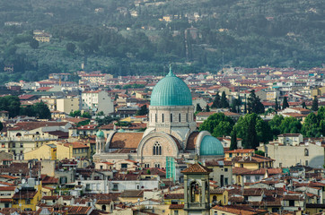Jewish Synagogue of Florence from top