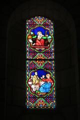 Indre-et-Loire - Loches - Vitrail de la collégiale Saint-Ours