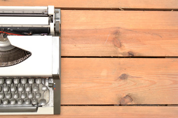 Typewriter on wood