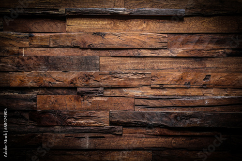 Leinwanddruck Bild design of dark wood background