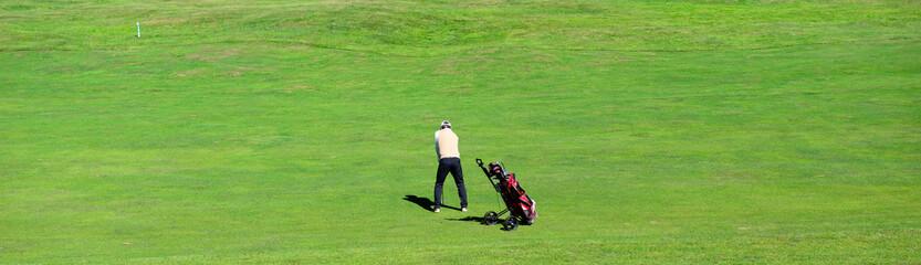 Golfista sul green