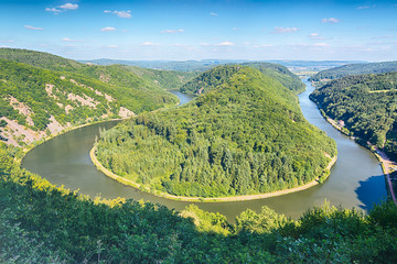 Hairpin Curve in the River Saar