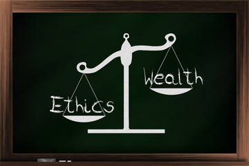 Scale of wealth and ethics
