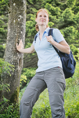 Hiking Adventure - Woman with Backpack