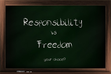 Choices of responsibility and freedom