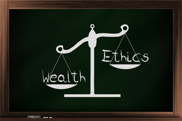 Scale of ethics and wealth