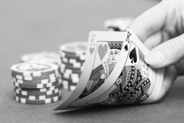 Pokerstrategie schwarz-weiß