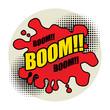 Comic book explosion abstract, vector