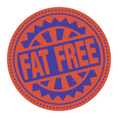 Abstract stamp or label with the text Fat Free