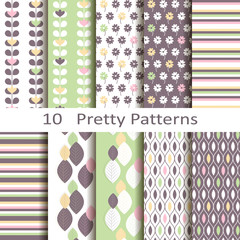 Set of ten pretty patterns