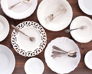 Plates, spoons and forks